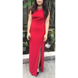 Le Chateau Red Formal Sleeveless Dress
